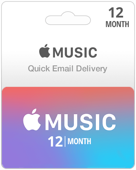 12 Month Apple Music Subscription (Email Delivery